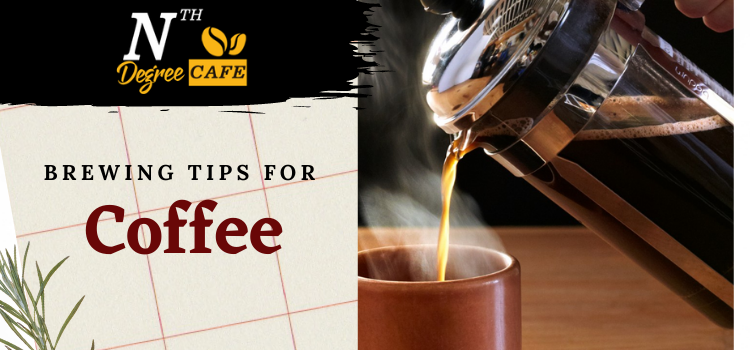 Which brewing tips do you need when you do not have any coffee equipment?